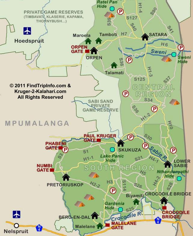 kaart van www.Kruger-2-Kalahari.com