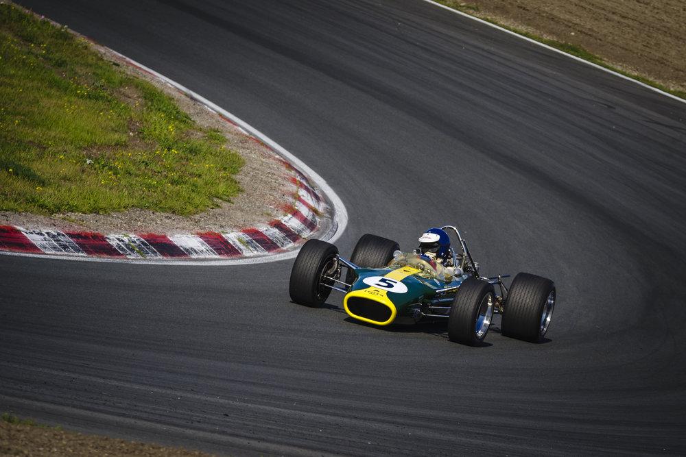 De race winnende Lotus-Cosworth uit 1967 van Jim Clark