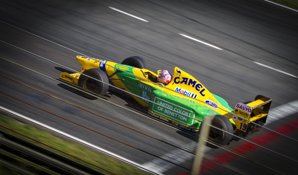 De 1993 Benetton van Michael Schumacher.