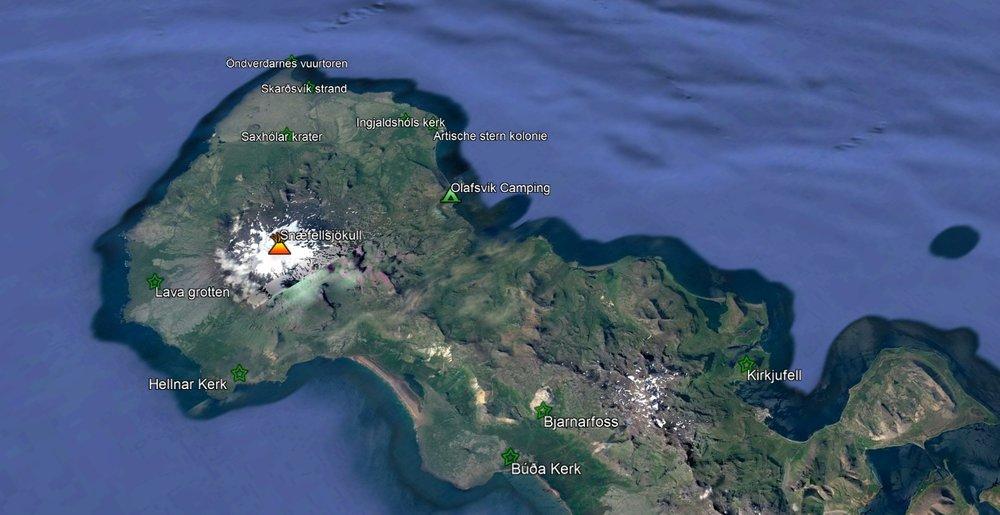 Een overzicht van het Snaefellsnes schiereiland