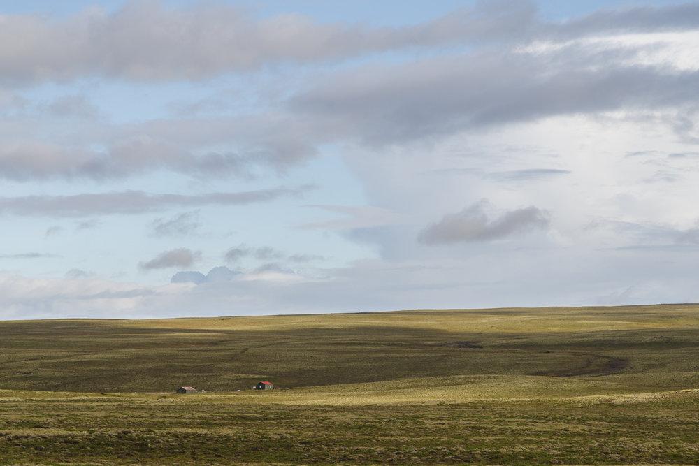 Uitgestrekte vlaktes, net buiten Þingvellir nationaal park