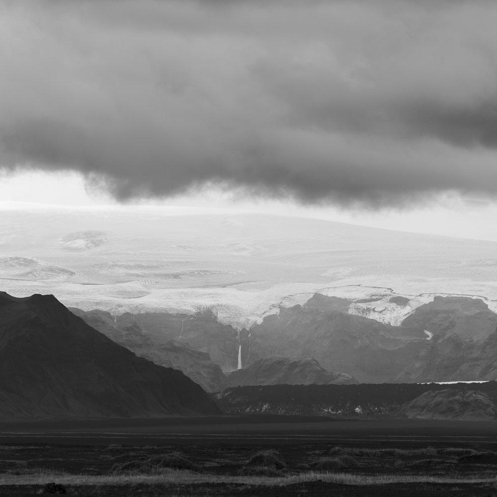 De Katla vulkaan bedolven onder een gletsjer