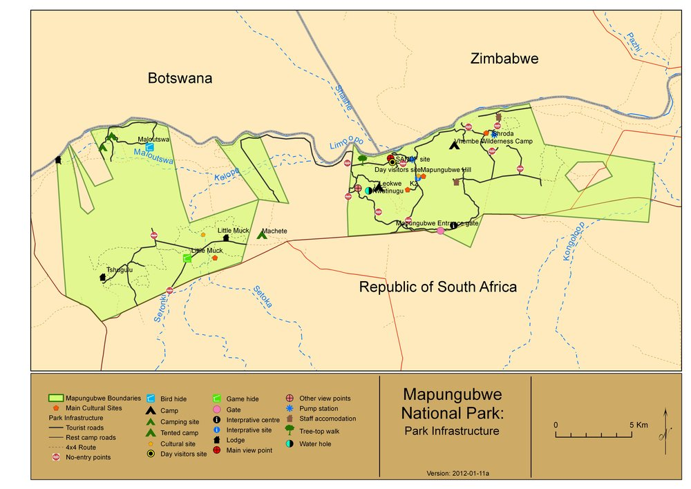 Map of the park (www.sanparks.org)
