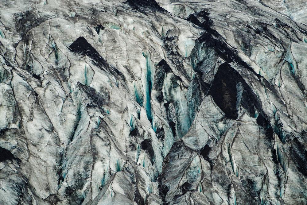 De kleuren van het ijs