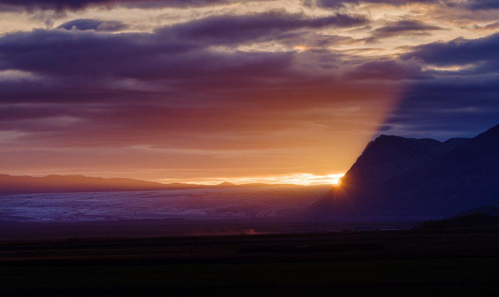 De dag eindigt met een knal in IJsland