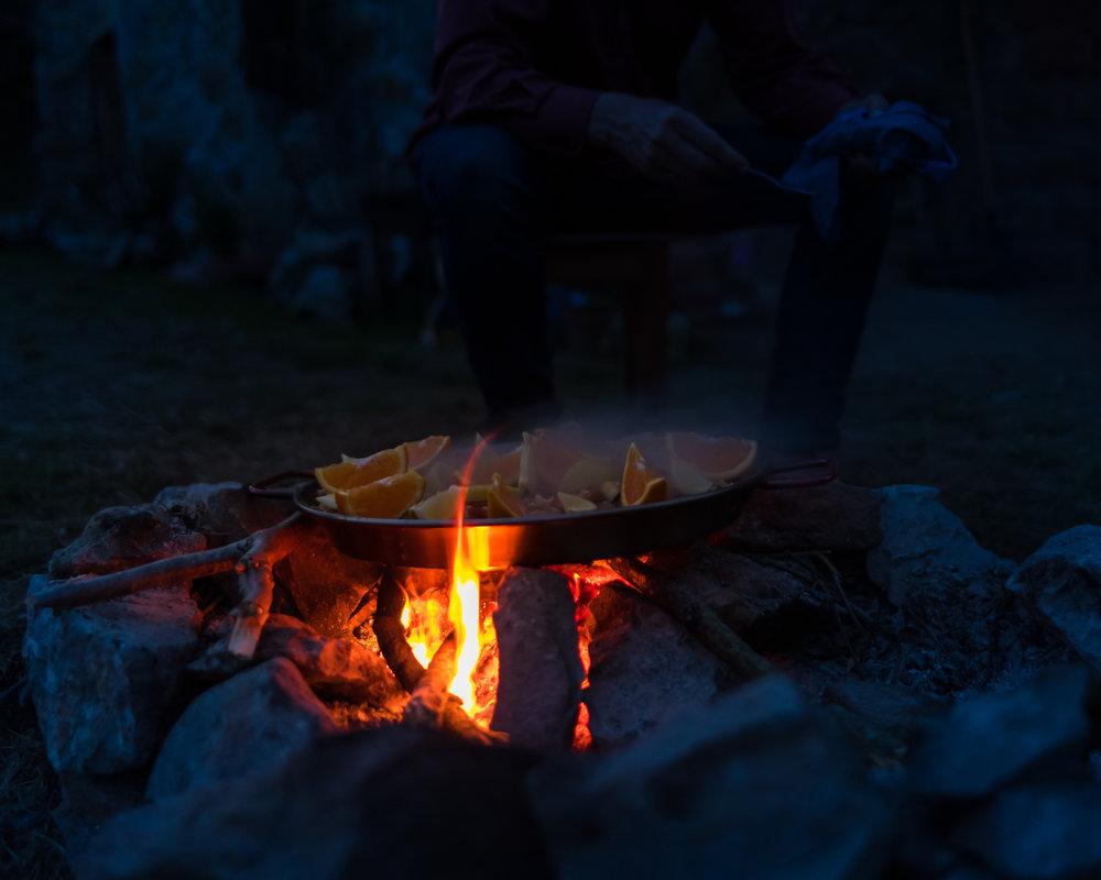 Na de zon, komt het vuurtje