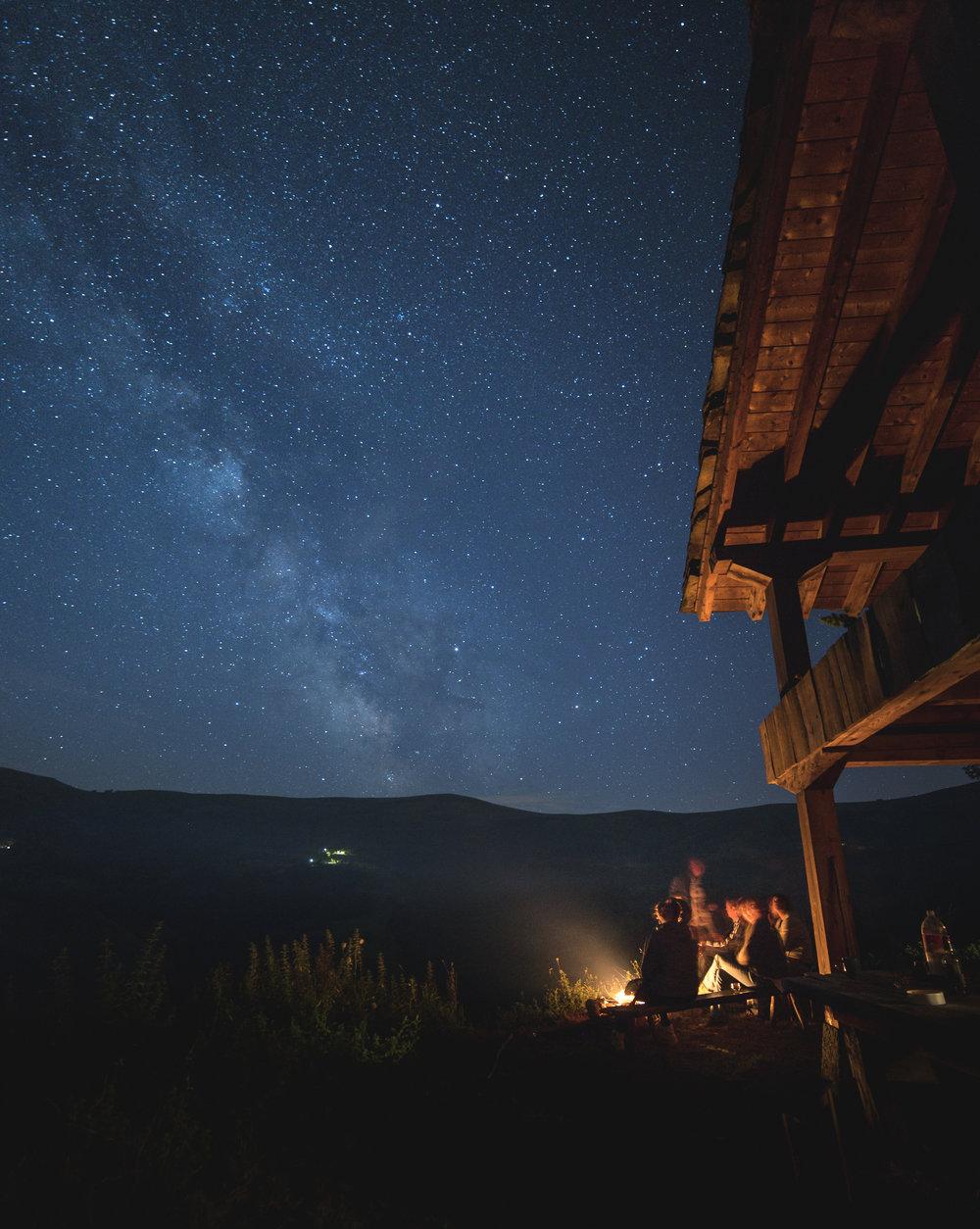 De nachtelijke hemel in noord Spanje. Pentax K-1; 14 mm; 30 sec; F2.8; ISO 1600.