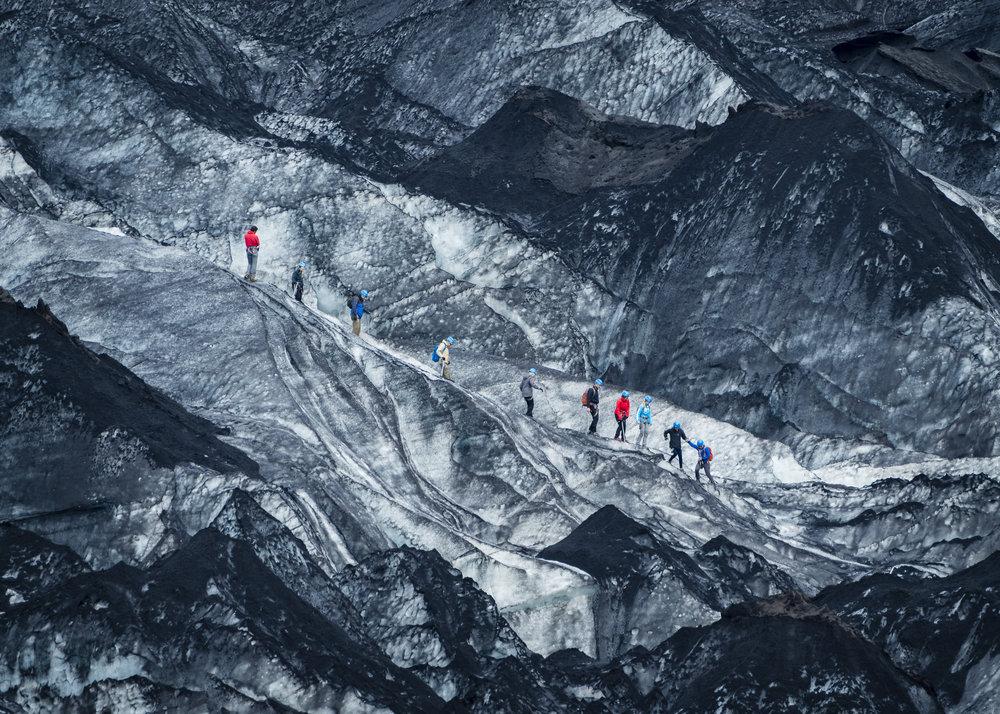 Lopen op dun ijs, IJsland