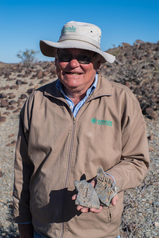 Chiel, Eigenaar en tourguide bij de Mesosaurus Fossil Bush Camp