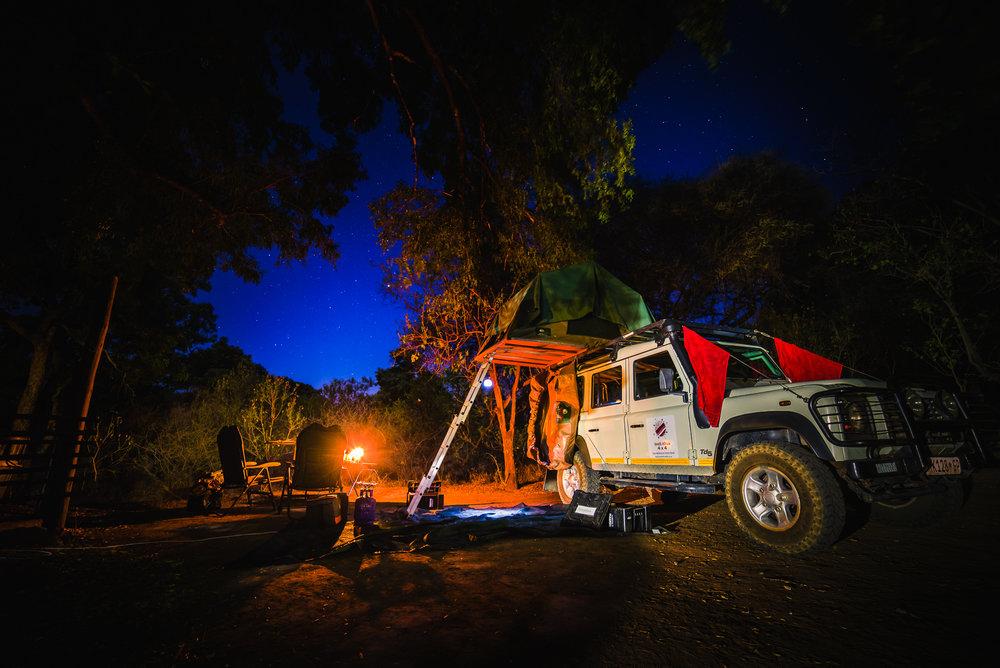 Land Rover Defender in Mapungubwe National Park