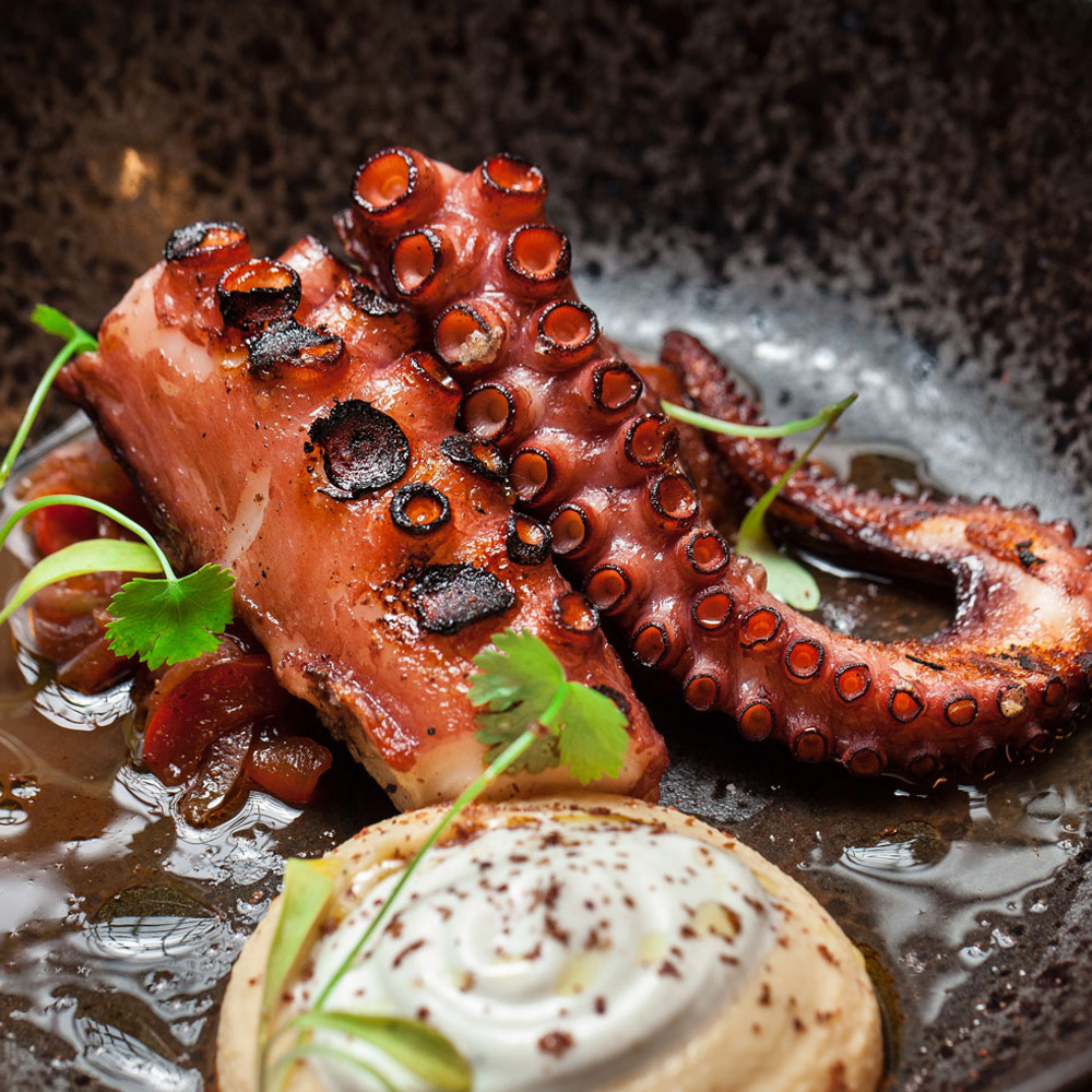Recipe: Tuyo's Crispy Octopus And Creamy Hummus