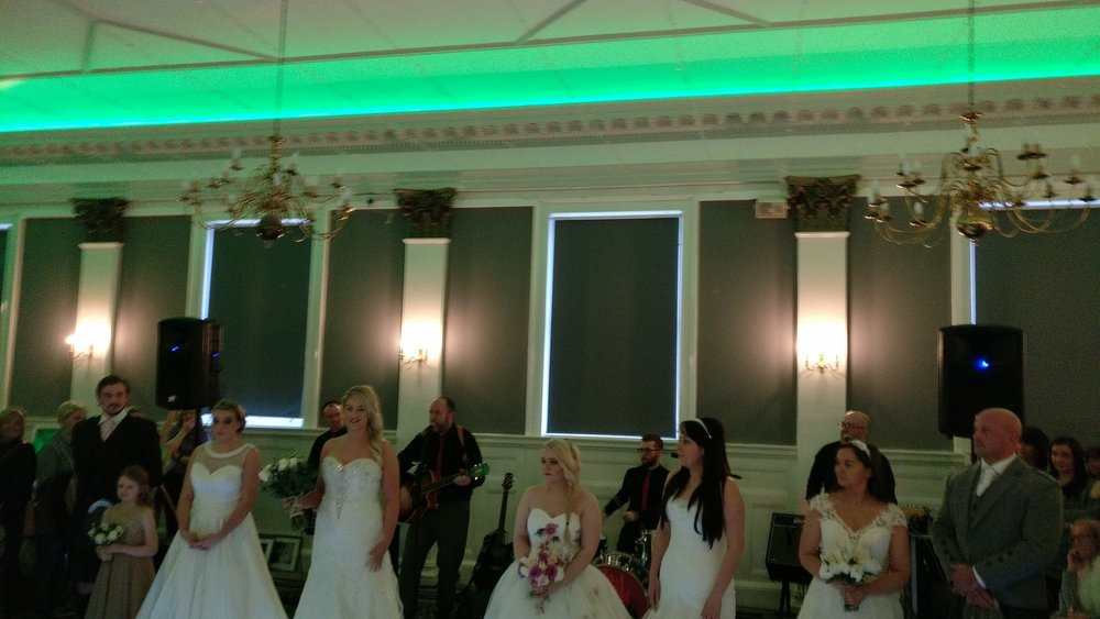 Brides at the Fashion Show- Tontine Hotel, Greenock.