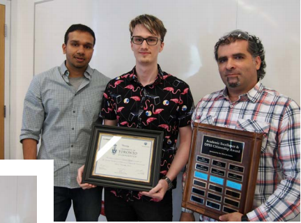 - 30th May Kudos to Daniel for being the recipient of the DPES Excellence and Leadership Award in Chemistry! This award is to recognize undergraduates who demonstrate both academic excellence and leadership within the Department.