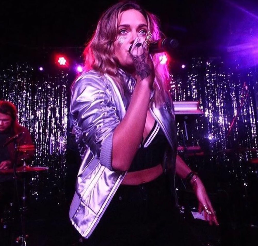TOVE LO  WEARING CAROLINE BRALETTE FROM SS17