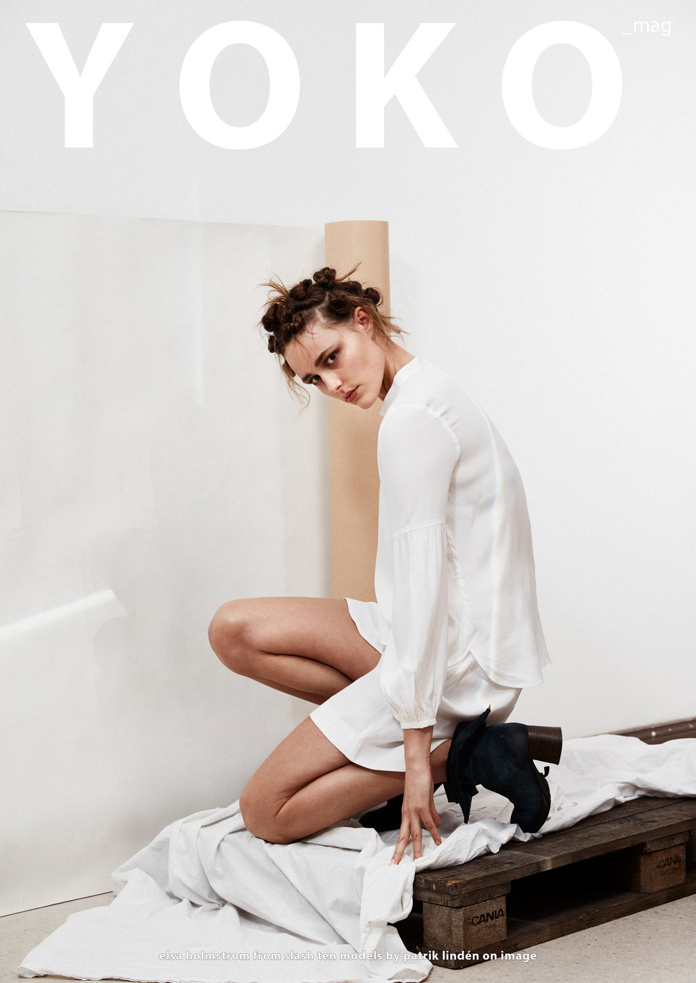 Astrid Blouse & Nellie shorts featured in YOKO Magazine in January 2018
