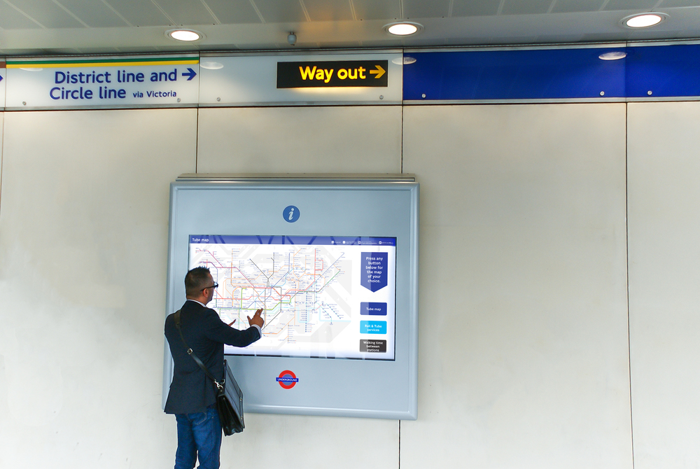 Interactive Map featured at Paddington Station