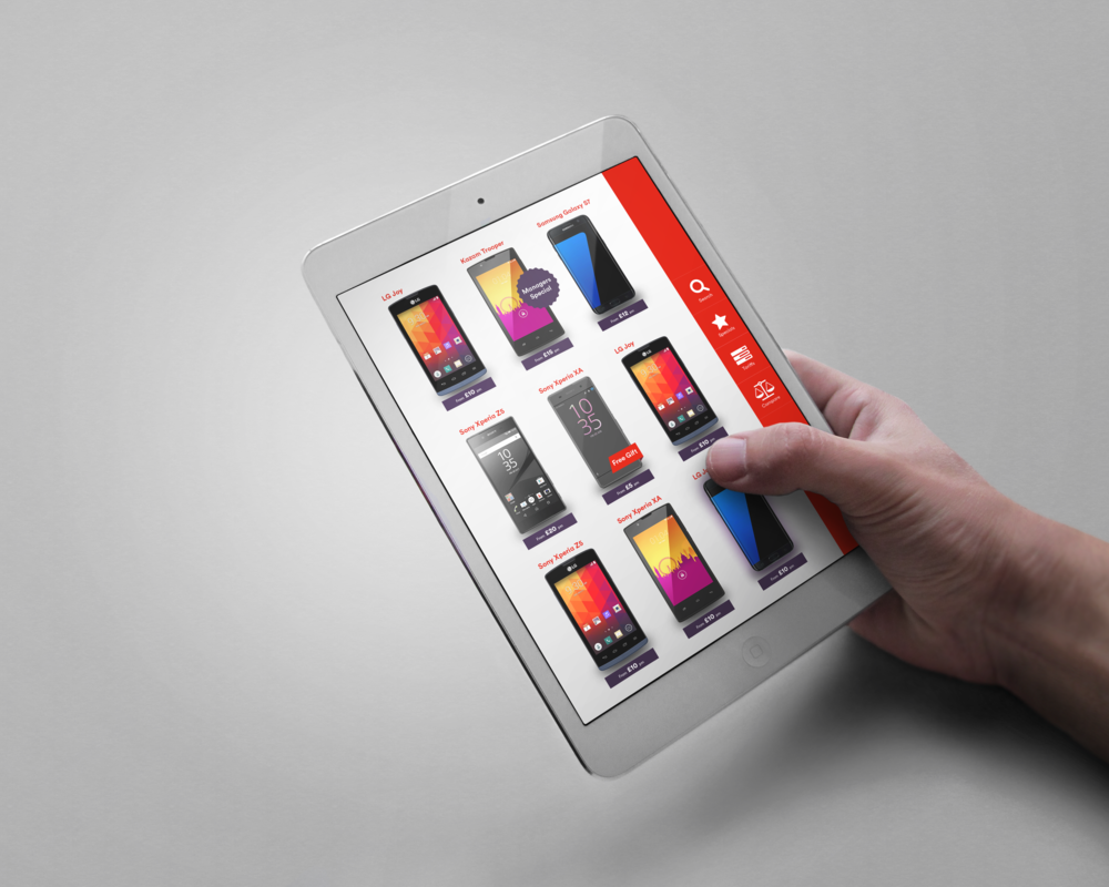 iPad app, all of the functionality in a smaller form factor