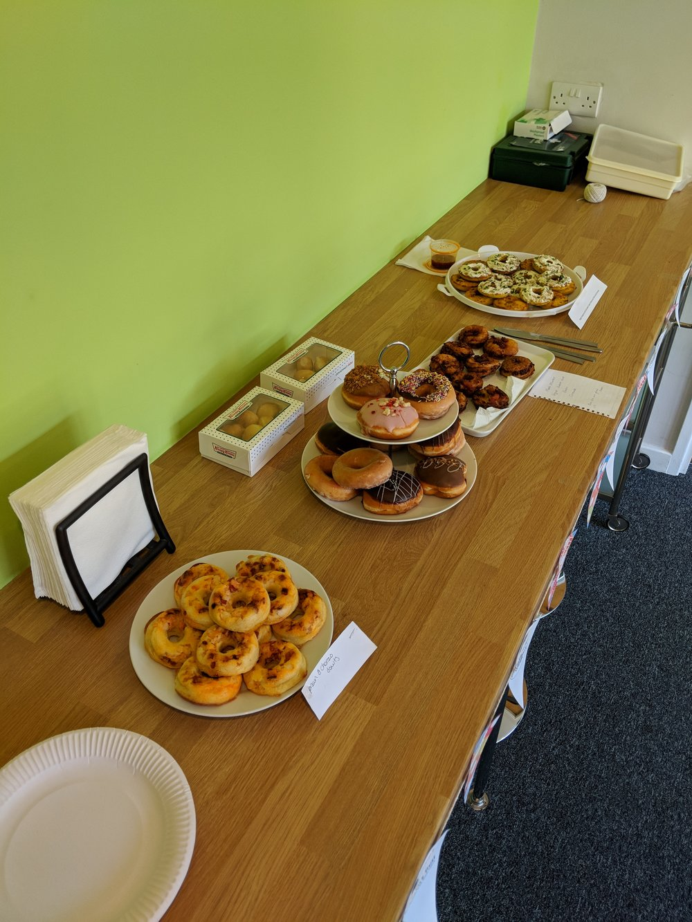 Just some of the tasty Doughnuts created by the team! (Sneaky Krispy Kreme box too)
