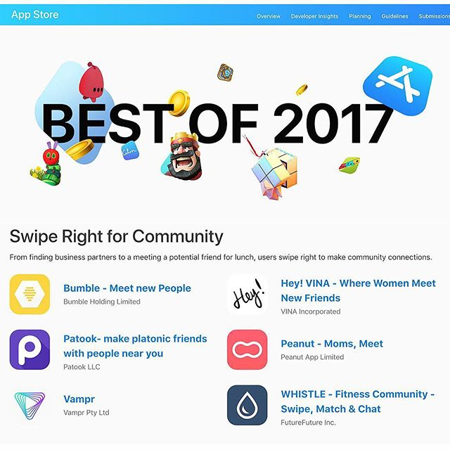 When you are listed as BEST OF 2017 ON THE APP STORE!!!! 😮😮😮// I am in full freak out mode this morning. To have @whistle.app listed next to amazing apps like @bumble @peanut and @vamprapp is absolutely mind blowing. Thank you to everyone who has downloaded our app and supported this journey! Huge thanks to @apple and @mylowphoto and @jarekhardy for literally everything! // ✖️✖️✖️// #mysweatstory #mss #whistleapp #appoftheyear #appstore #bestof2017 #community #whatthefuck #fullfreakoutmode