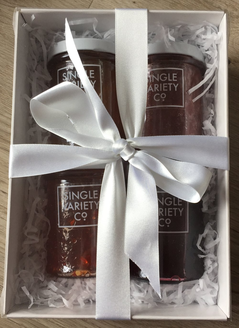 Our jam gift box- available at all markets from November