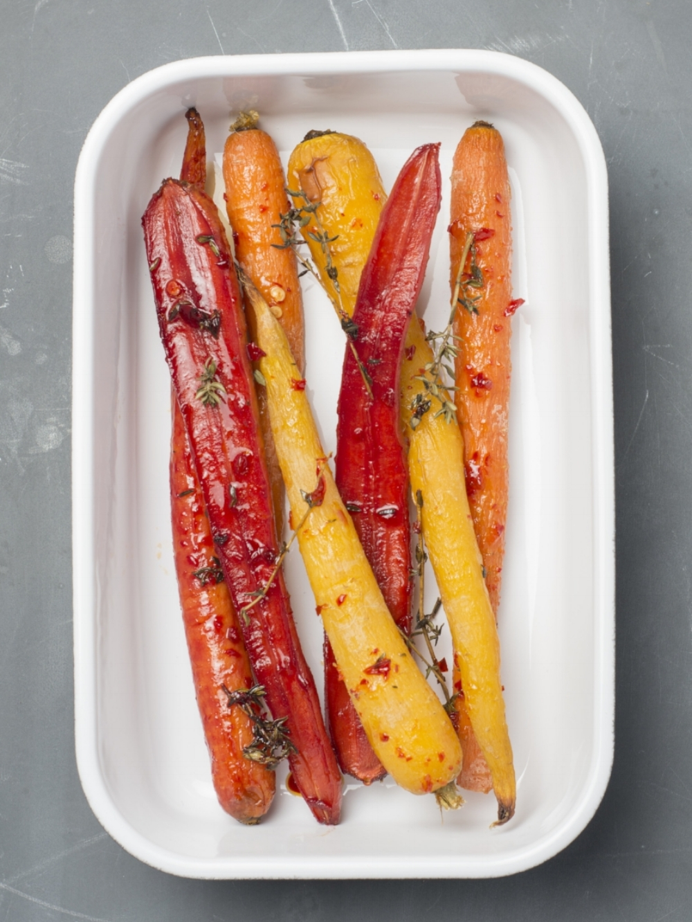 sweet chilli carrots