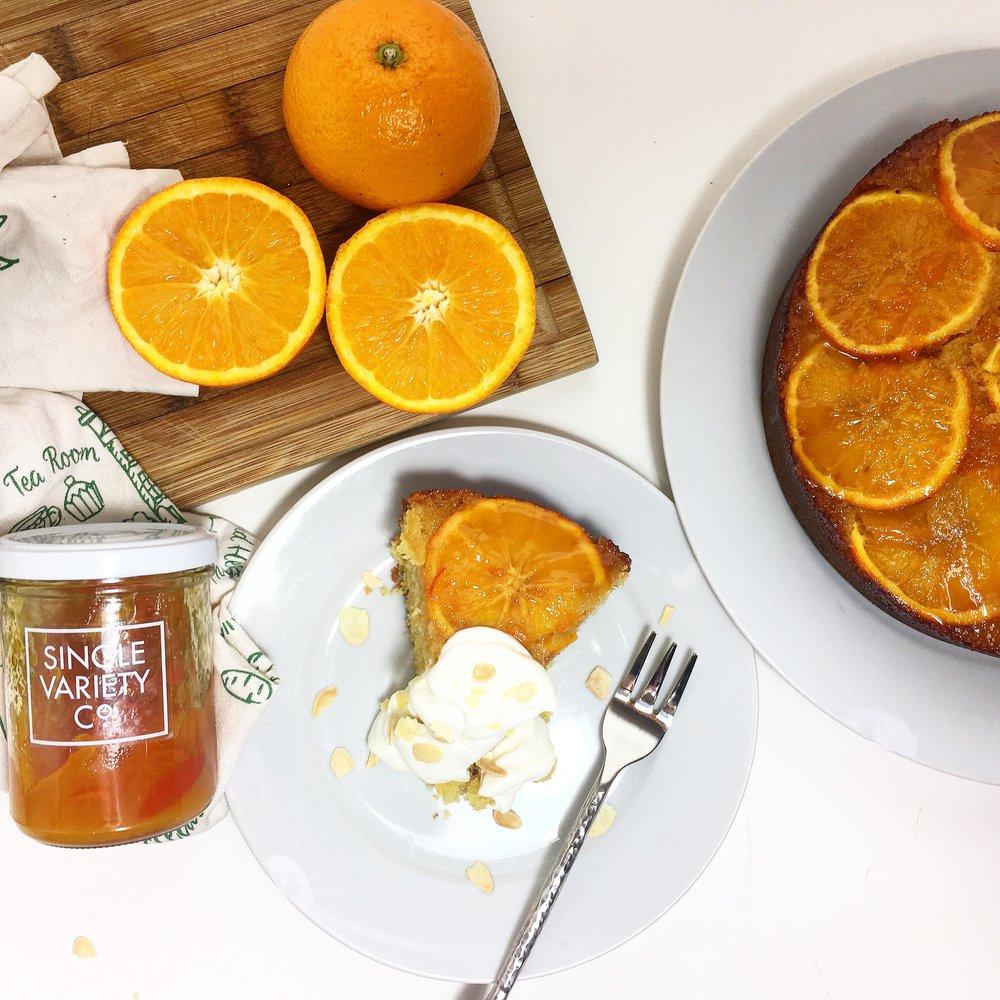 sticky marmalade & ginger cake