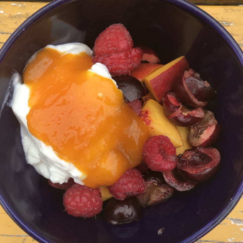 Alphonso Mango Preserve with Yoghurt & Fruit