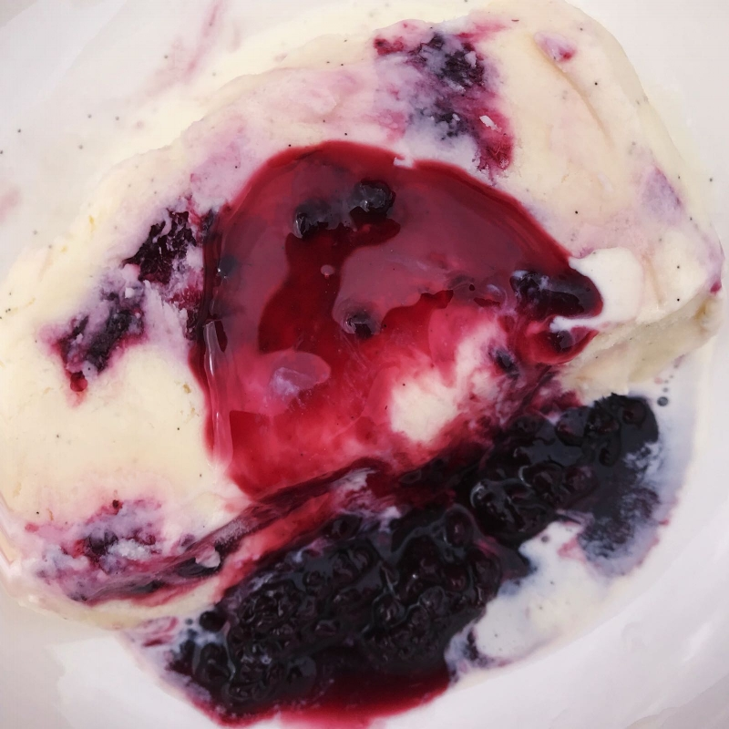King George Blackberry Preserve Ice Cream