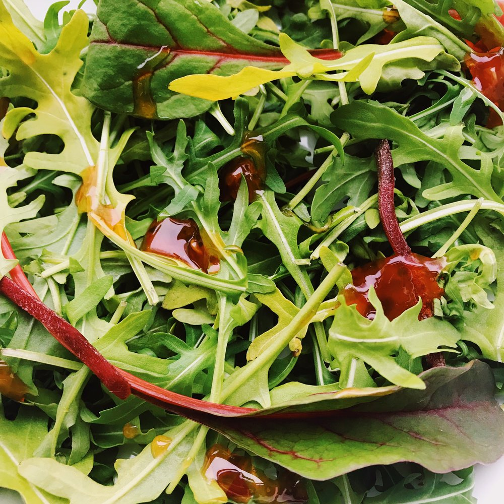 salad with chilli dressing