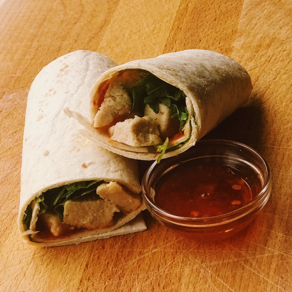 quorn wrap with chilli jam