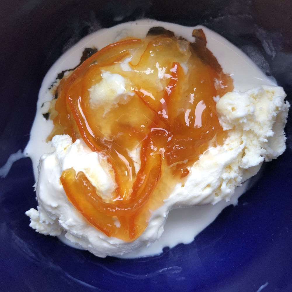 marmalade on ice cream