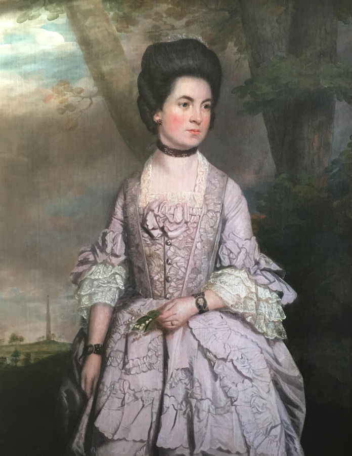 Portrait of Grace Newman of Barwick Park by Thomas Beach. Currently with a private dealer.