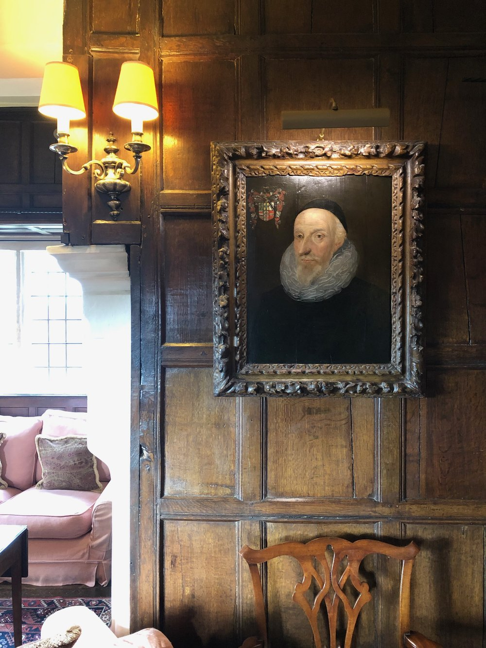 17th Century Portrait in the Sitting Room.