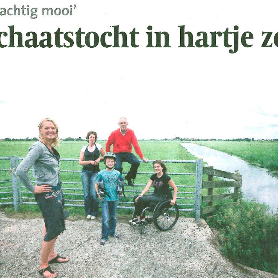 Natuurschaatstocht in hartje zomer  Leidsch Dagblad  26-08-10