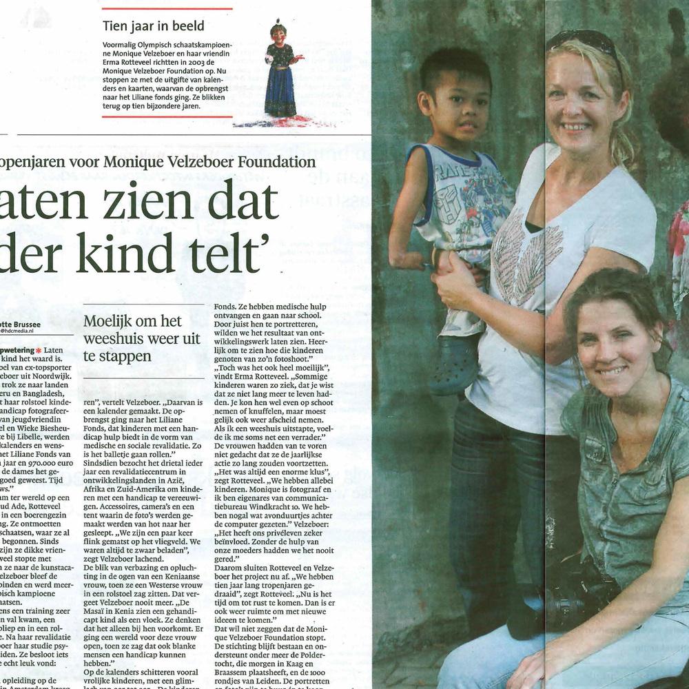 Tien trpenjaren voor Monique Velzeboer Leidsch Dagblad 07-09-13