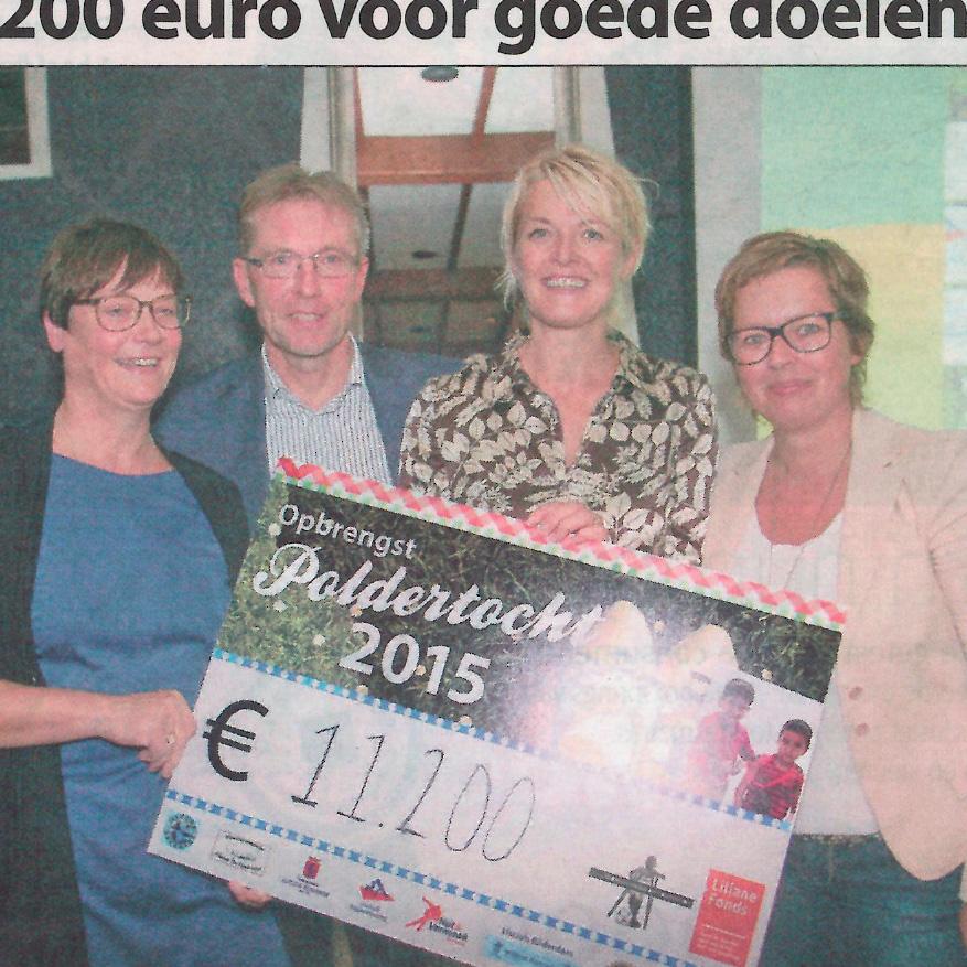Opbrengst Poldertocht Witte Weekblad 13-10-15