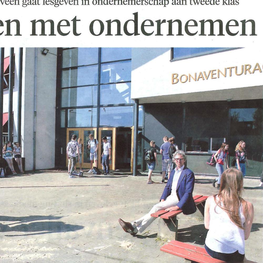 Jong starten met ondernemen  Leidsch Dagblad  16-05-16