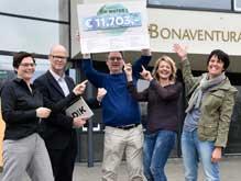 Opbrengst Dik Water   1 mei 2017  Dik Water brengt in totaal €11.703,- op voor Bonaventuracollege