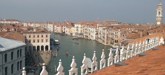 Grand Canal from Fondaco dei Tedeschi roof Venice