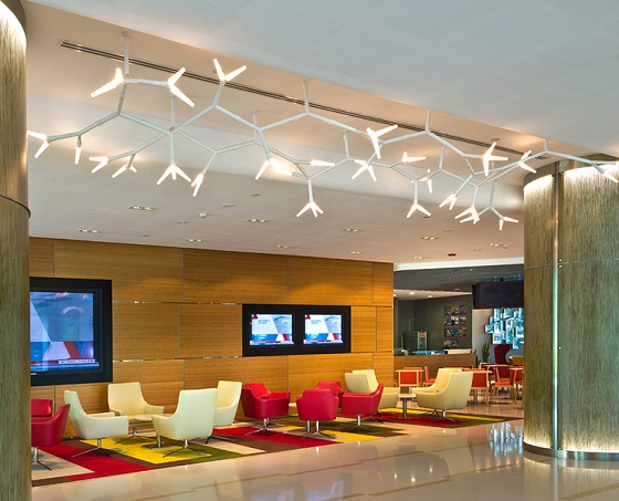 Quasar Sparks lighting installation Citibank, Singapore