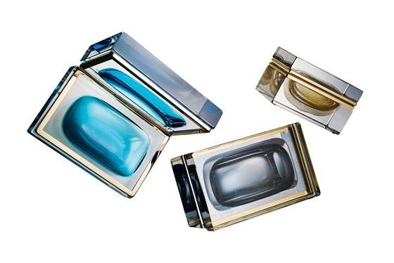 Mandruzzato Murano glass boxes