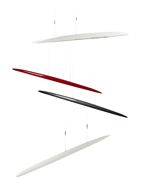 Millelumen Sculpture linear pendant lights kombi