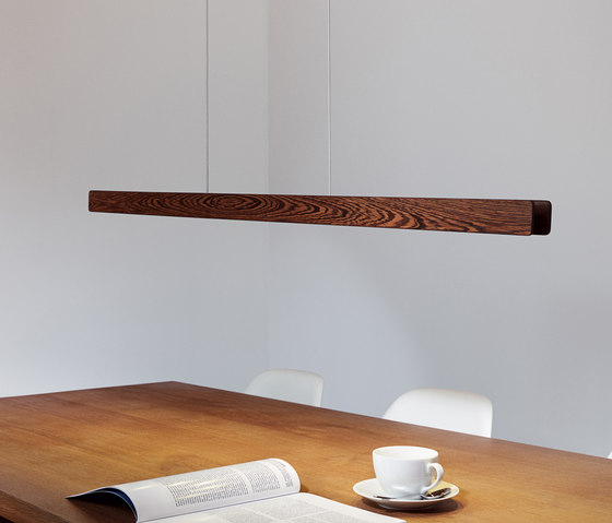 Millelumen Individual linear pendant light wood