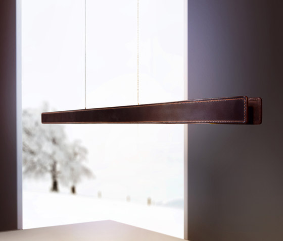 Millelumen Individual linear pendant light leather
