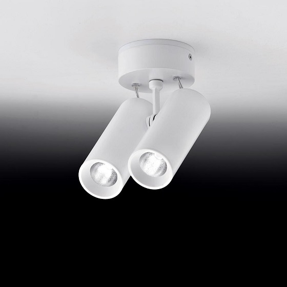 Milan iluminación Tub Led double celing spotlight