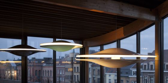 Design by Mai 88 and 200 Skybeamer pendant lights