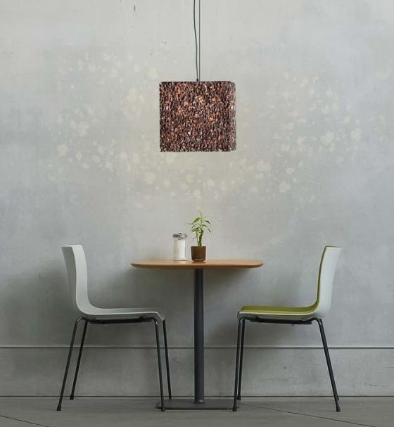 GAluminium foam pendant light Grid from Design by Mai