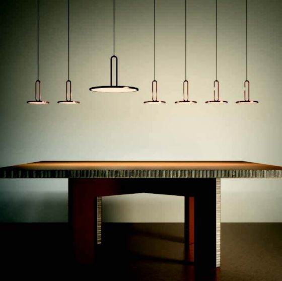 Penta Clip pendant lights at Euroluce