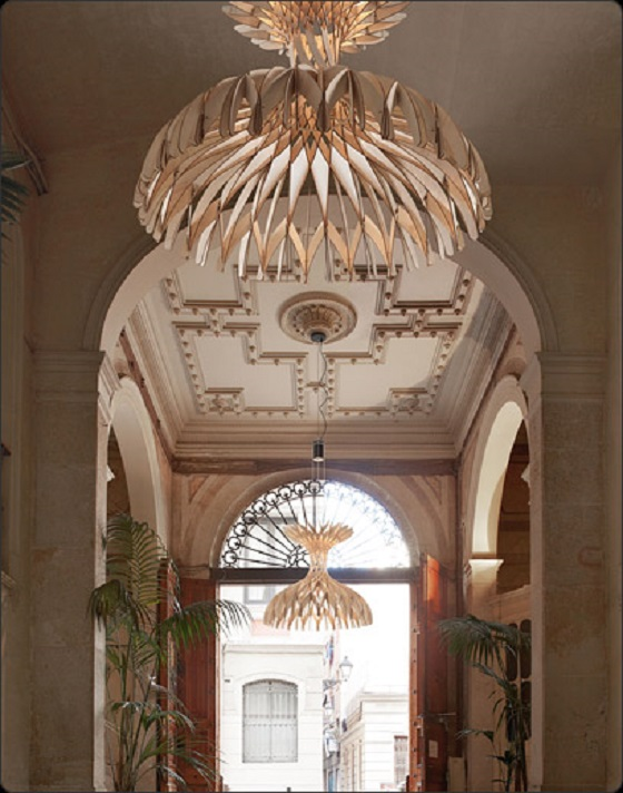 Bover wooden chandelier Dome