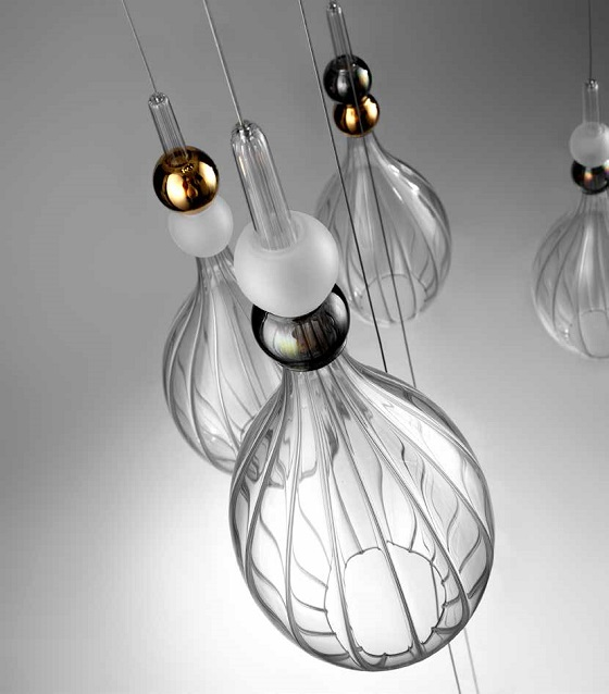 Vetrart Dame glass pendants